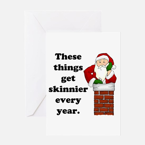 Skinnier Every Year (light) Greeting Card