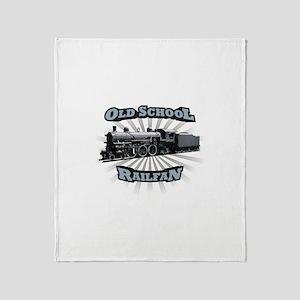 Old School Railfan Throw Blanket