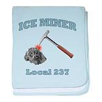 Ice Miner baby blanket