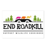 End Roadkill Multicolor Postcards (package Of 8)