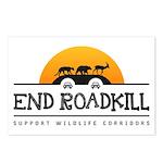 End Roadkill Orange Sun Postcards (package Of 8)