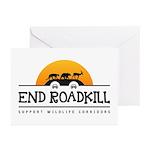 End Roadkill Orange Sun Greeting Cards (pk Of 10)