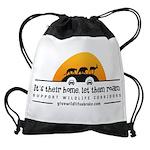 It's Their Home Wildlife Drawstring Bag