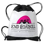 End Roadkill Pink Sun Drawstring Bag