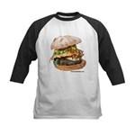 Big Bad Wolf Burger Kids Baseball Jersey