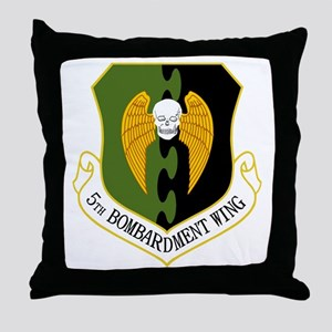 5th Bomb Wing Throw Pillow