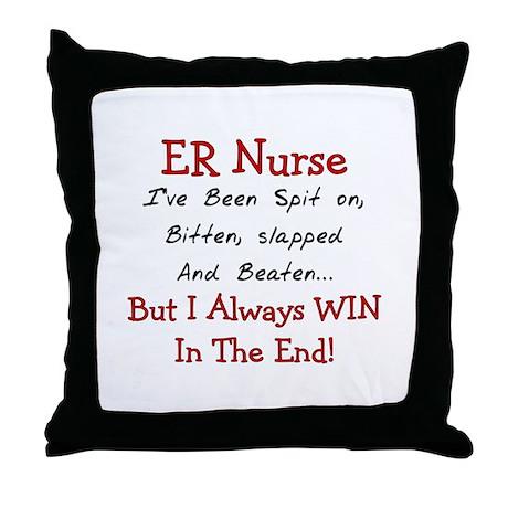 Nurse XXX Throw Pillow