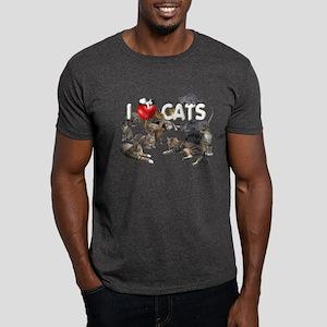 "Dark T-Shirt ""I Love Cats"""