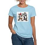 """Women's Light T-Shirt """"I Love Cats"""""""