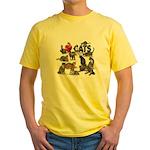 "Yellow T-Shirt ""I Love Cats"""