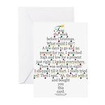Christmas Tree Gift Poem Card Greeting Cards (Pk o