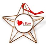 Heart a Book Copper Star Ornament