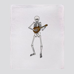Skeleton Mandolin Throw Blanket