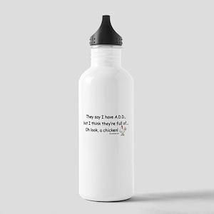 ADD full of Chicken Humor Stainless Water Bottle 1