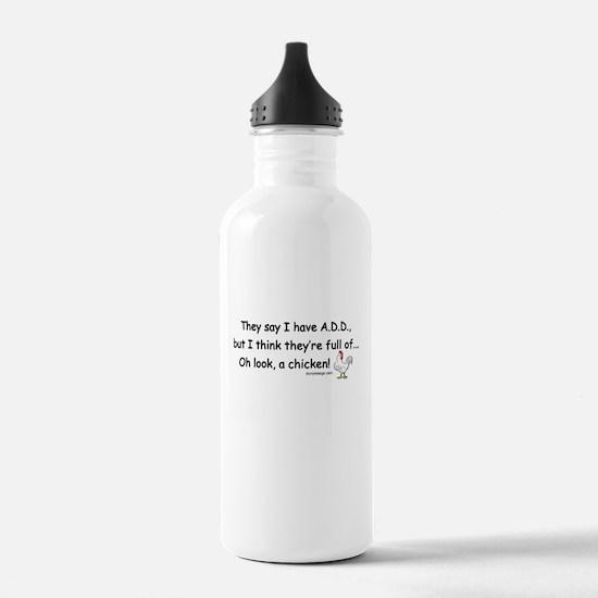 ADD full of Chicken Humor Water Bottle