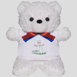 Merry Christmas Snowman Teddy Bear