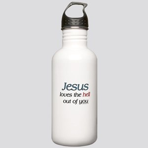 Jesus loves the hell... Stainless Water Bottle 1.0