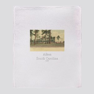 Park in the Pines Hotel Throw Blanket