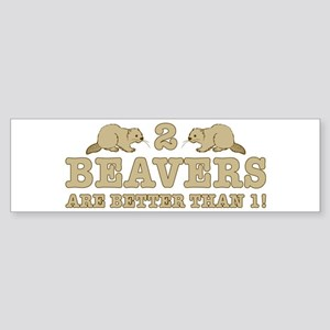 2 Beavers Sticker (Bumper)