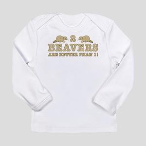 2 Beavers Long Sleeve Infant T-Shirt