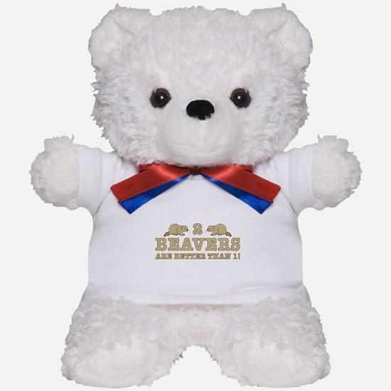 2 Beavers Teddy Bear