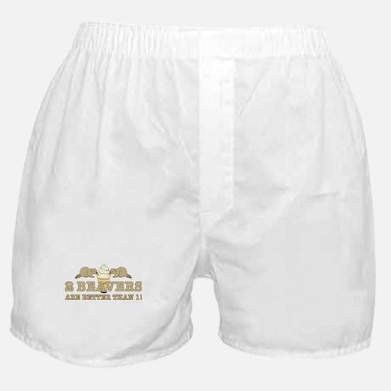 2 Beavers Boxer Shorts