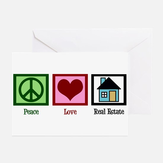 Peace Love Real Estate Greeting Cards (Pk of 20)