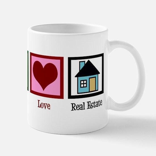 Peace Love Real Estate Mug