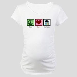 Peace Love Real Estate Maternity T-Shirt