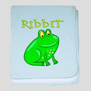 Ribbit baby blanket