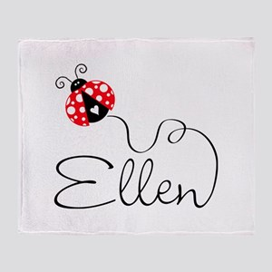 Ladybug Ellen Throw Blanket