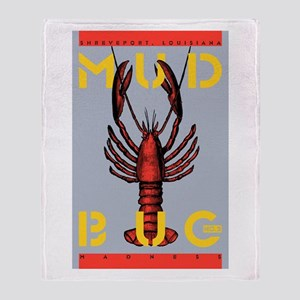 MudBug Madness Throw Blanket