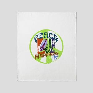 Vintage Peace Throw Blanket