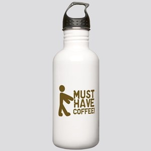 Must Have COFFEE! Zombie Stainless Water Bottle 1.