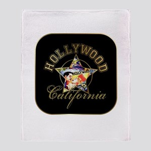 Hollywood CA Walk Of Fame Throw Blanket
