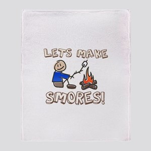 Lets Make SMORES! Throw Blanket