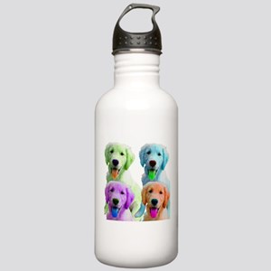 Golden Retriever Warhol Stainless Water Bottle 1.0