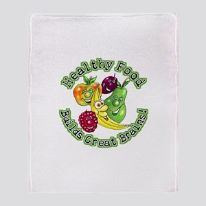 Healthy Food Builds Great Bra Throw Blanket