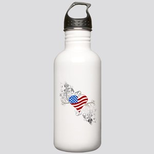 Independence Day Heart Stainless Water Bottle 1.0L