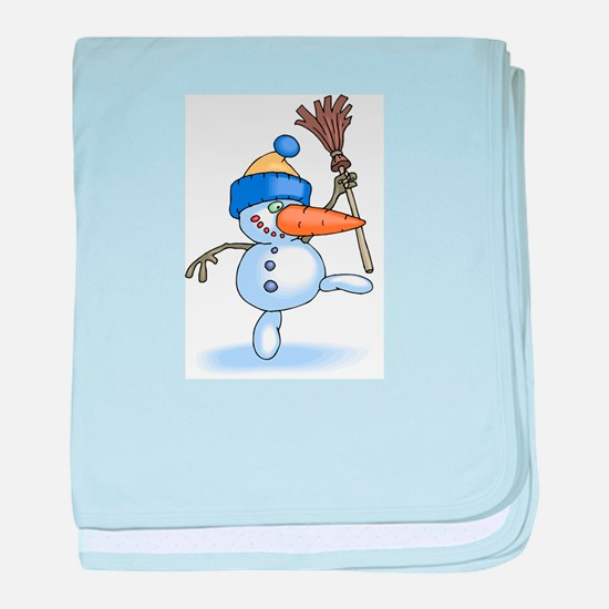 SILLY SNOWMAN baby blanket