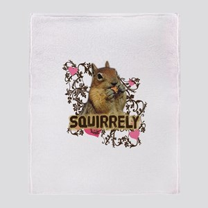 Squirrely Squirrel Lover Throw Blanket