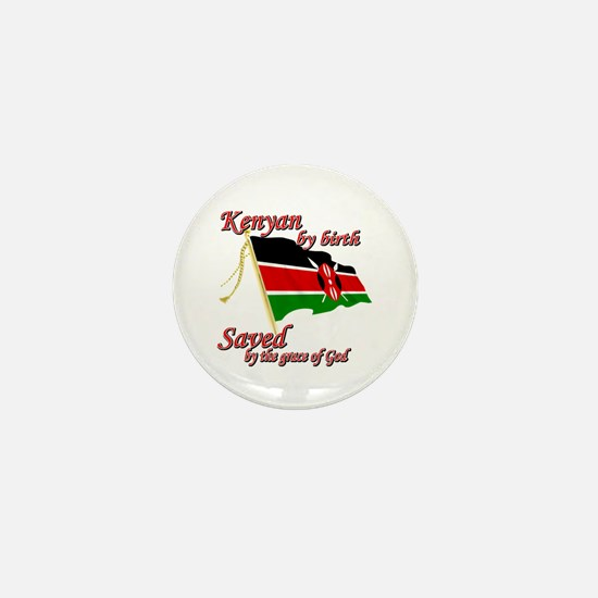 Kenyan by birth Mini Button