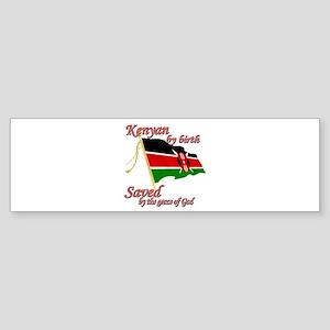 Kenyan by birth Sticker (Bumper)