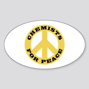 Chemists For Peace Sticker (Oval)