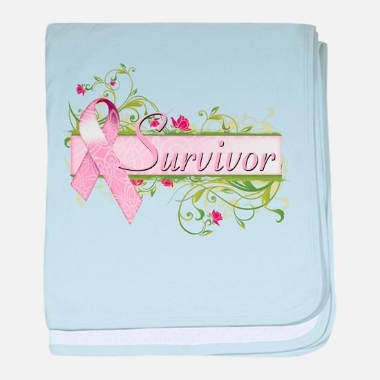 Survivor Floral baby blanket