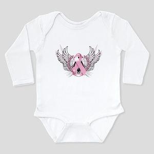 Awareness Tribal Pink Long Sleeve Infant Bodysuit