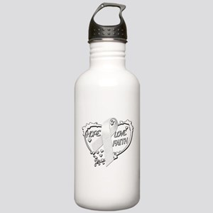 Hope Love Faith Stainless Water Bottle 1.0L