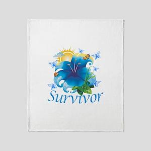 Survivor Flower Throw Blanket