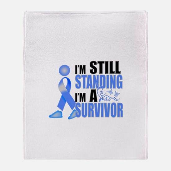 Still Standing I'm A Survivor Throw Blanket