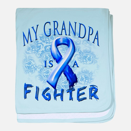 My Grandpa Is A Fighter baby blanket